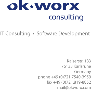 ok*worx consulting - IT Consulting, Software Development - Karlsruhe, Germany